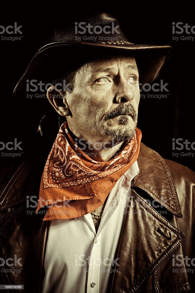 american cowboy portrait stock photo