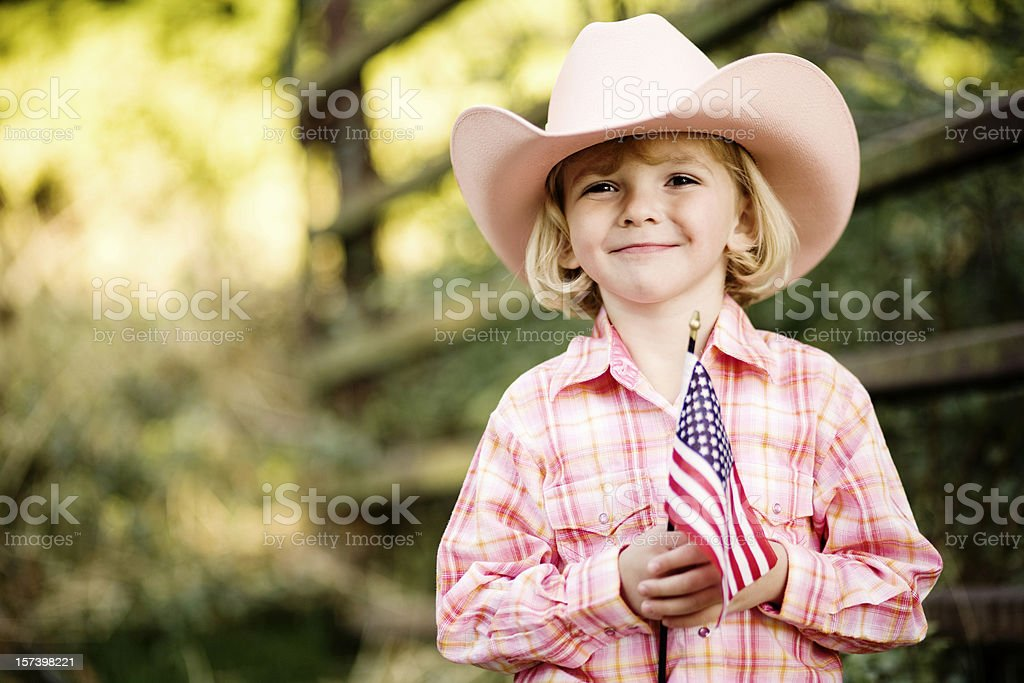 American Cowgirl royalty-free stock photo