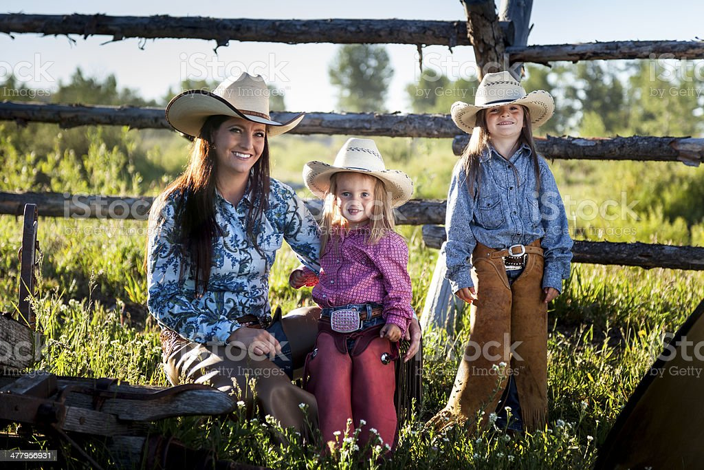 American Cowgirls stock photo