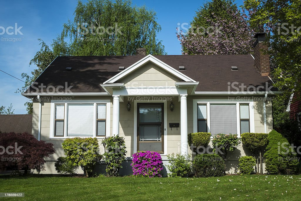American craftsman house royalty-free stock photo