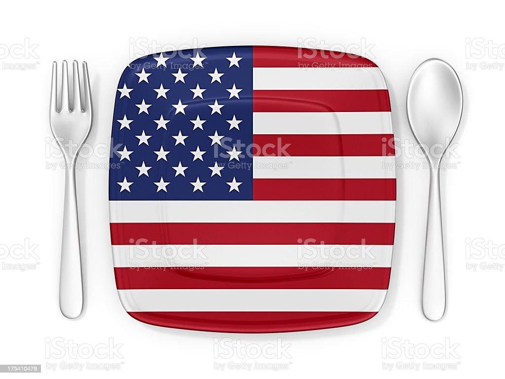 american cuisine stock photo