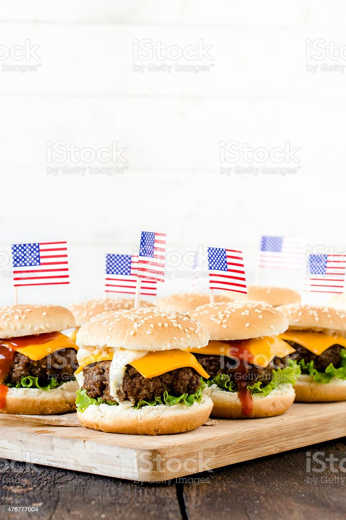 American cuisine stock photo