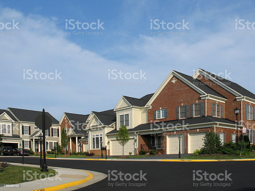 American Culdesac stock photo