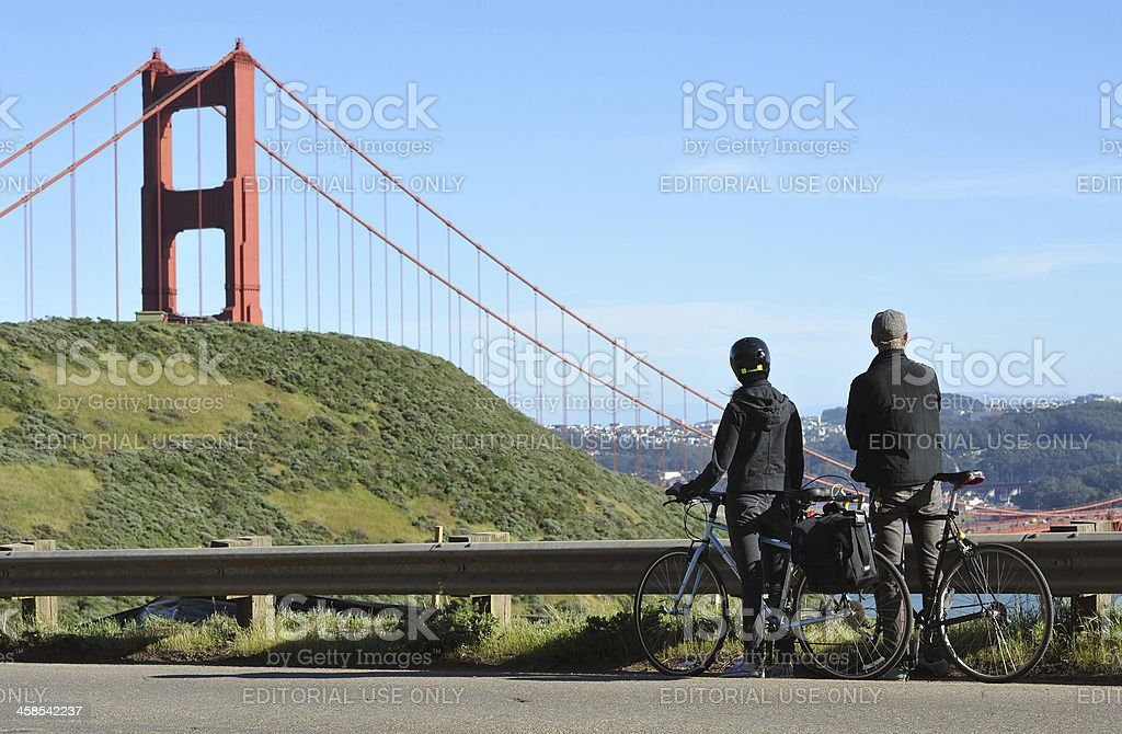 American Cyclists royalty-free stock photo