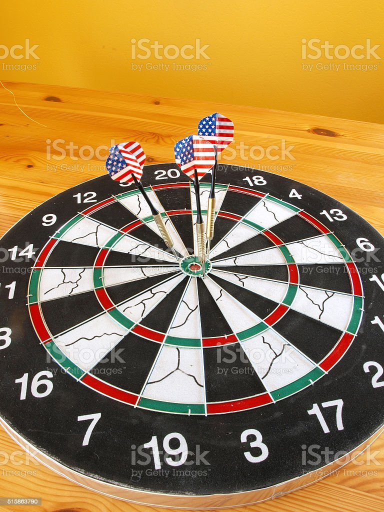 American darts stock photo