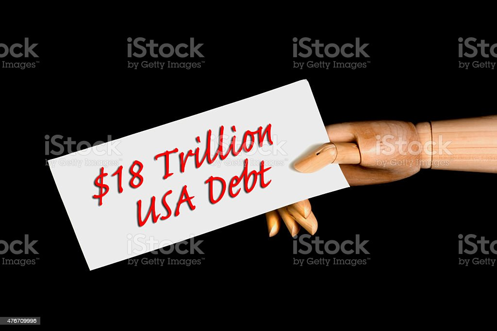 American Debt. stock photo
