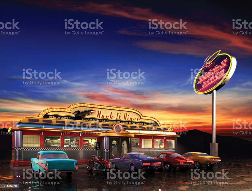 American Diner stock photo