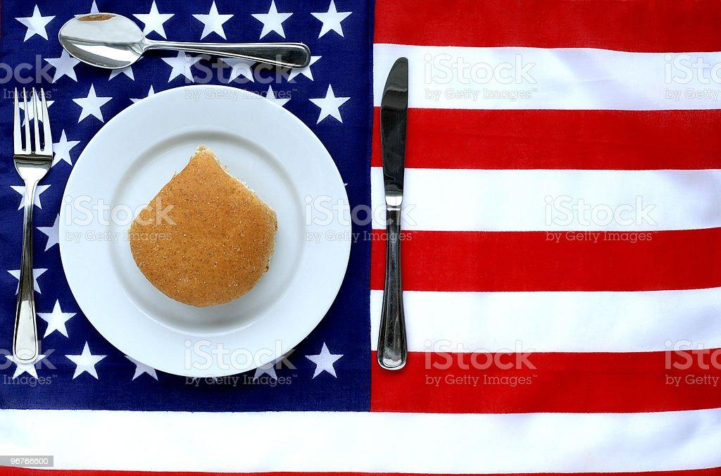 American Dinner royalty-free stock photo