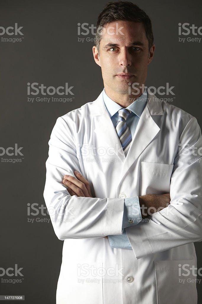 American doctor studio portrait stock photo