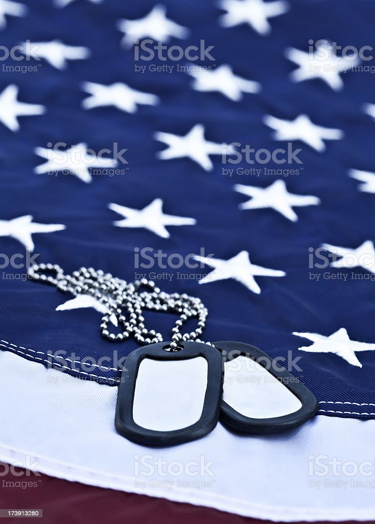 American Dog Tags royalty-free stock photo