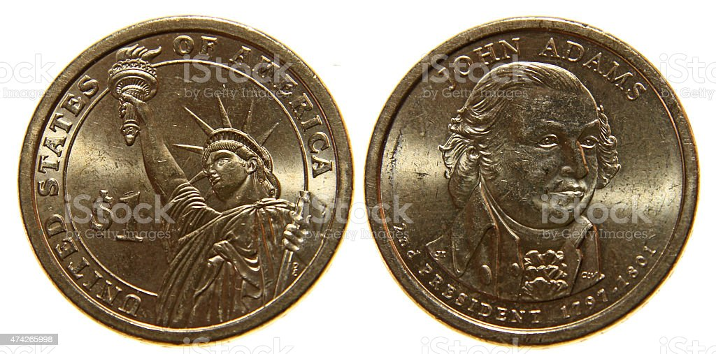 American Dollar Coin stock photo