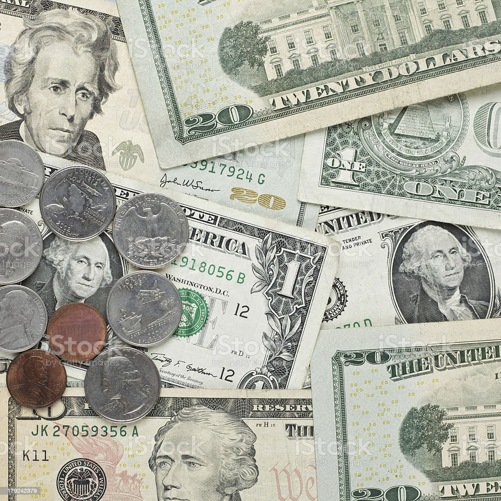 American dollar money background for business royalty-free stock photo