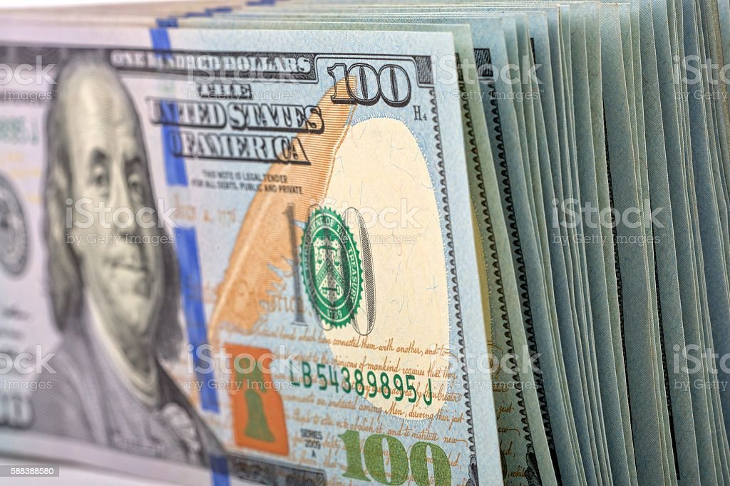 American dollars, a business background stock photo