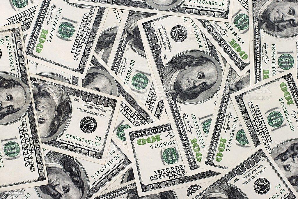 American dollars background. stock photo