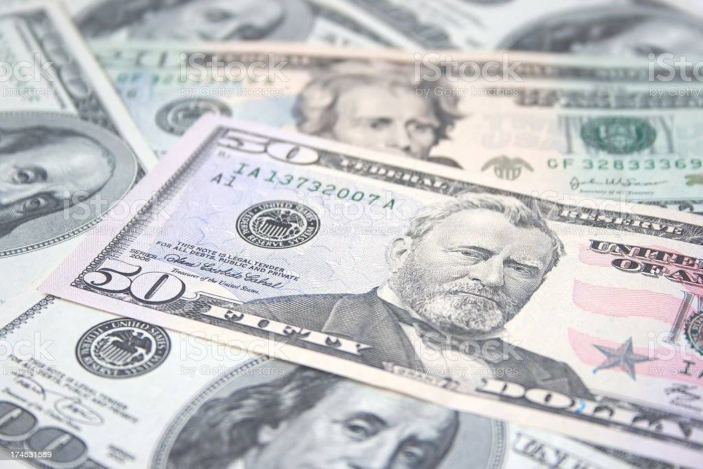 American dollars background royalty-free stock photo