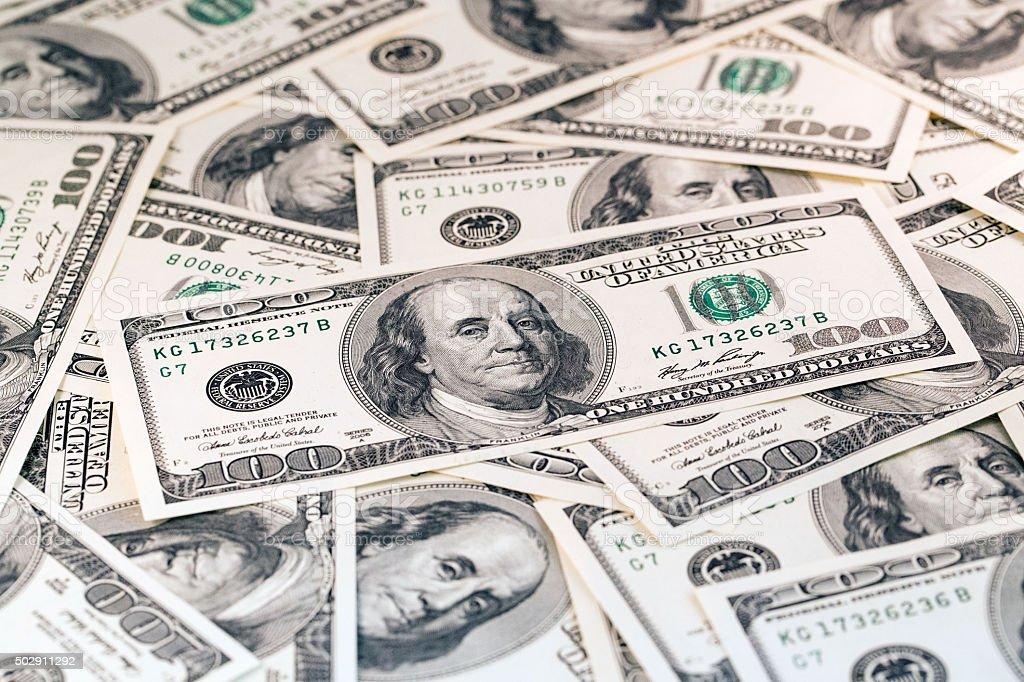 American Dollars Bill stock photo