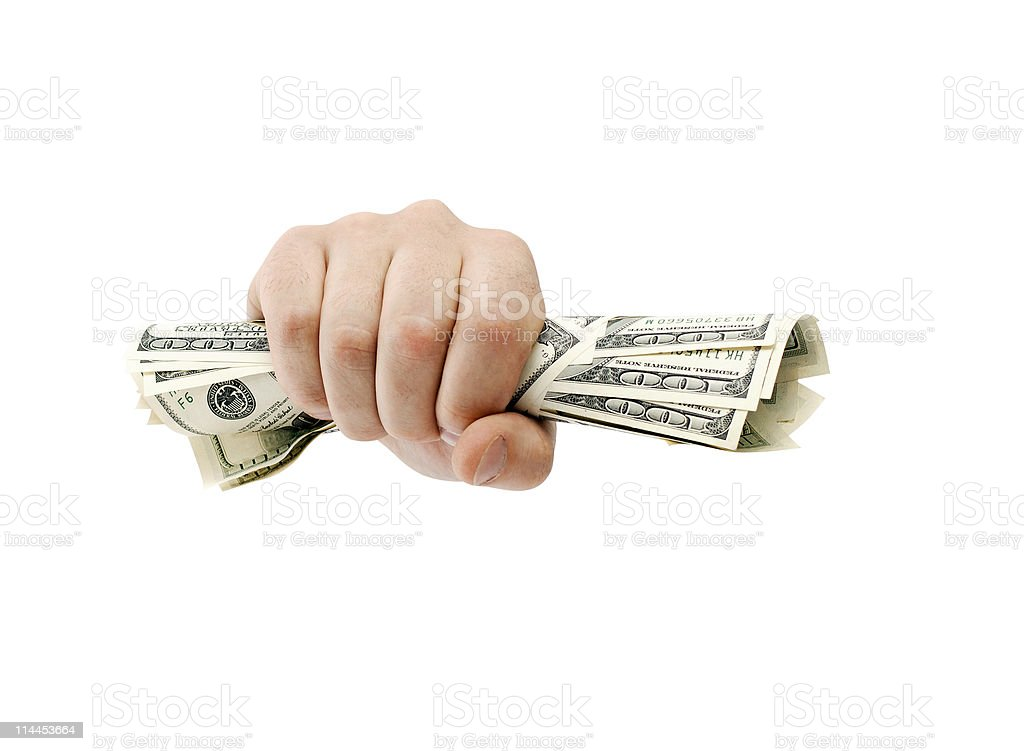 American dollars clenched royalty-free stock photo