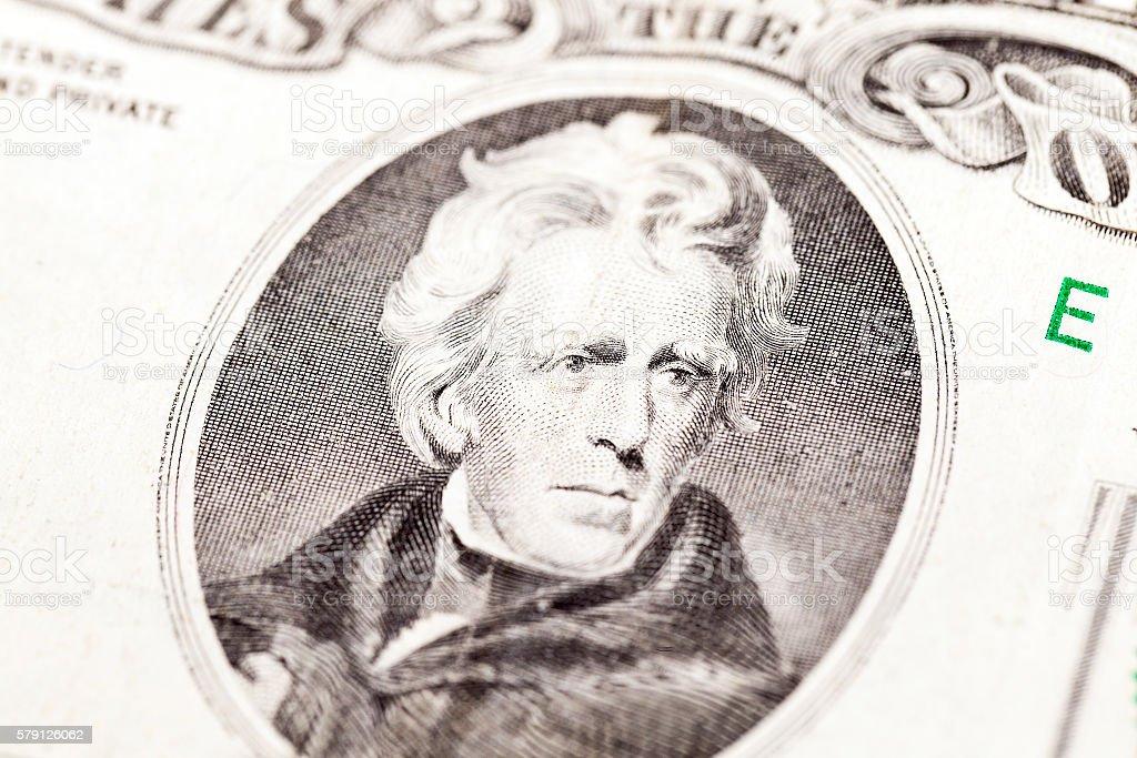 American dollars, close-up stock photo
