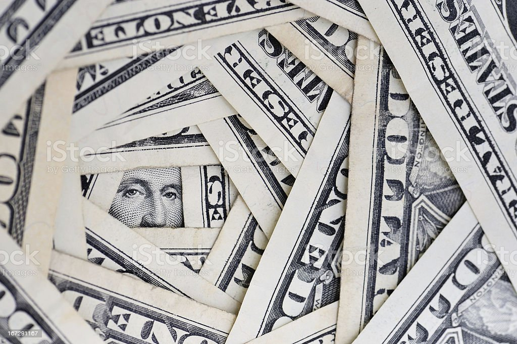American dollars debt stock photo