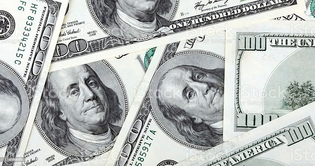 american dollars hundreds banknote royalty-free stock photo