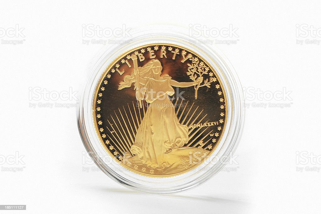 American Eagle - 1oz Gold Coin stock photo