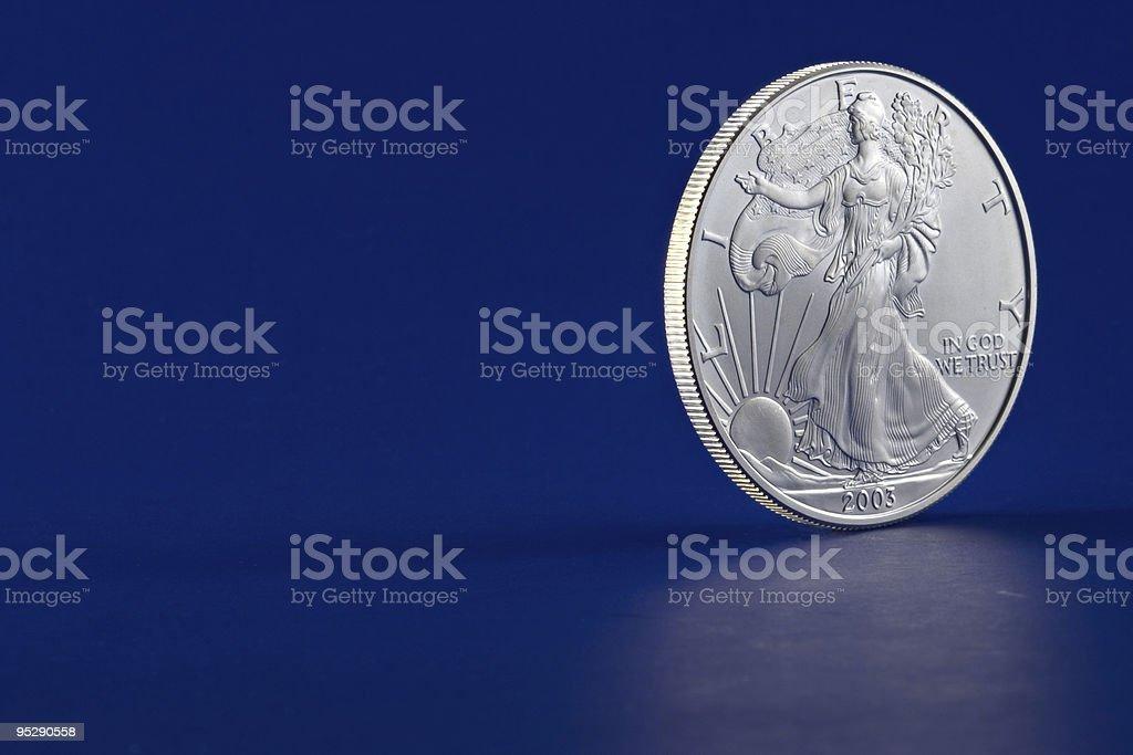 American Eagle 2003 Silver Dollar Coin Profile Obverse (Head) Side stock photo