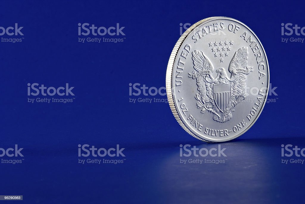 American Eagle 2003 Silver Dollar Coin Profile (Reverse) royalty-free stock photo