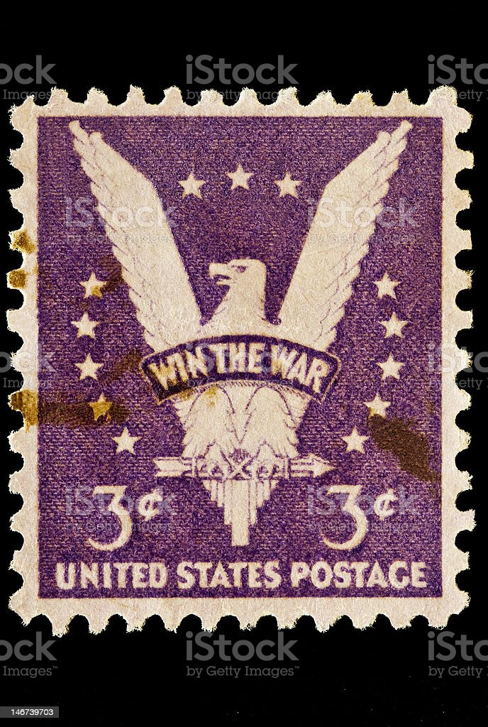 American Eagle 'Win the War' Issue royalty-free stock photo
