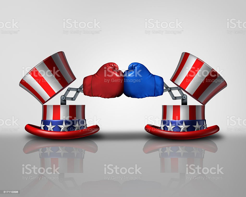 American election fight stock photo