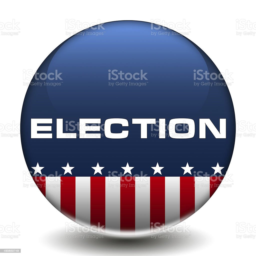 American Election icon button vector art illustration