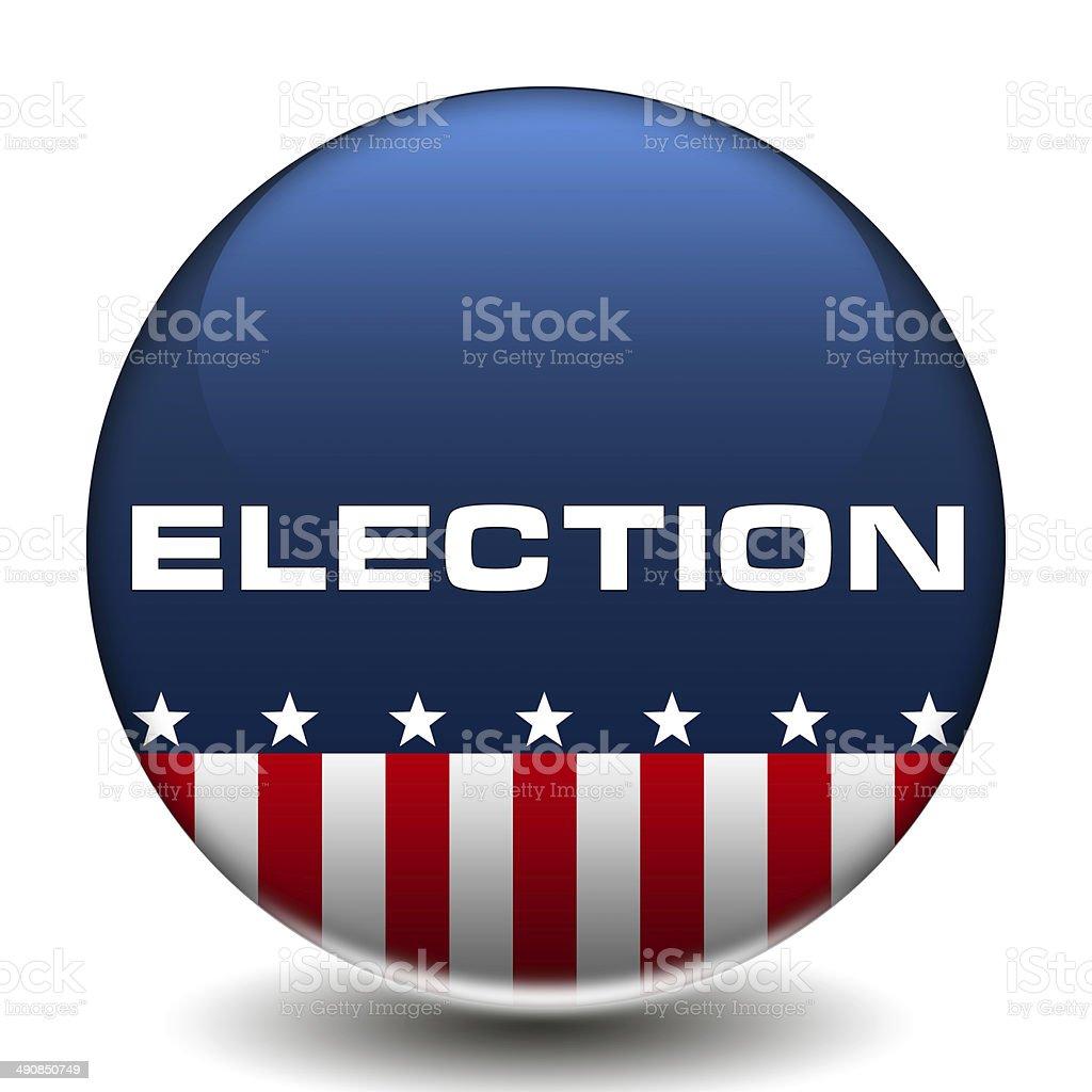 American Election icon button stock photo