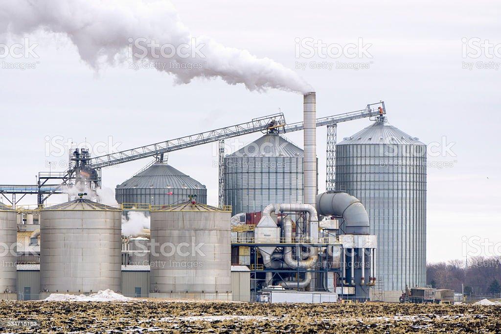 American Ethanol Refinery stock photo