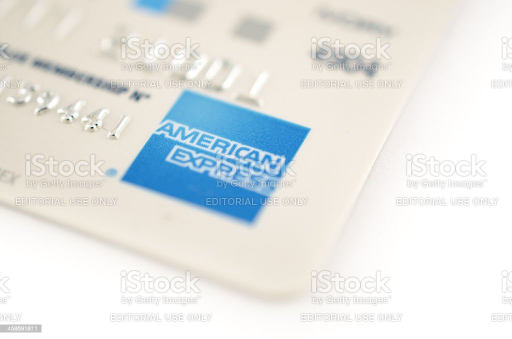 American Express Credit Card royalty-free stock photo