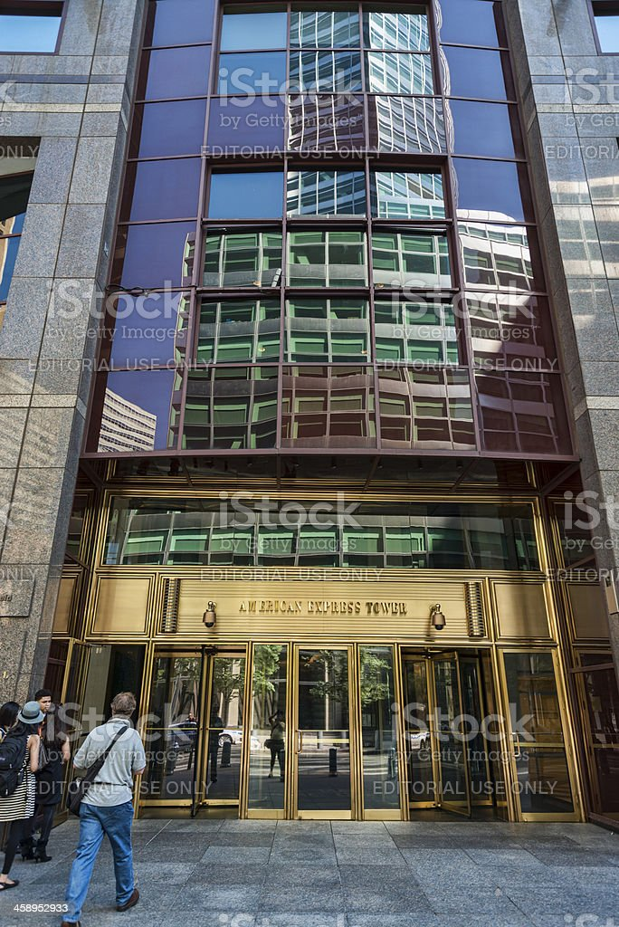 American Express Tower stock photo