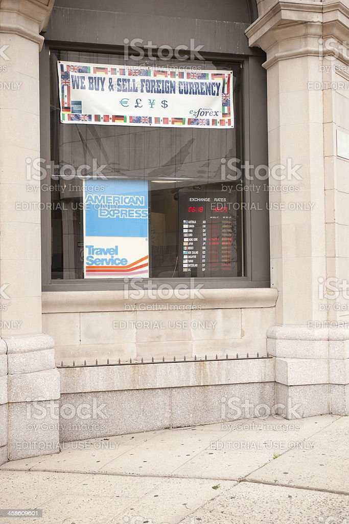 American Express Travel Service stock photo
