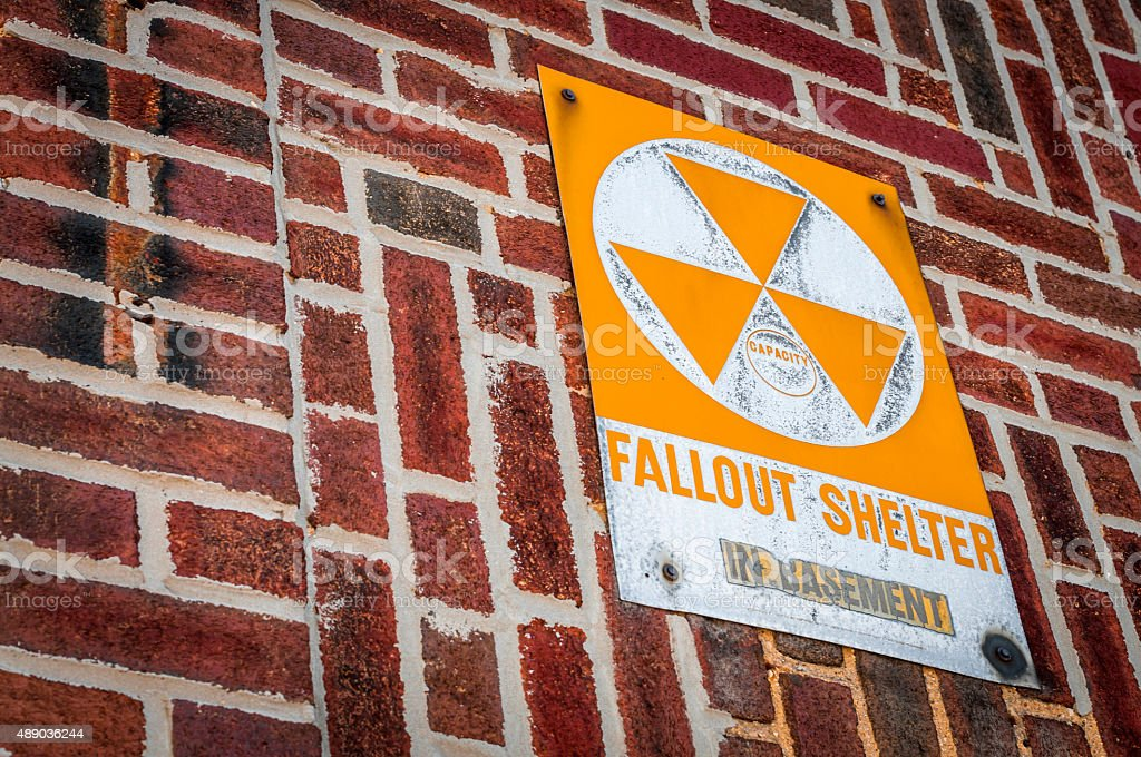 American fallout shelter stock photo