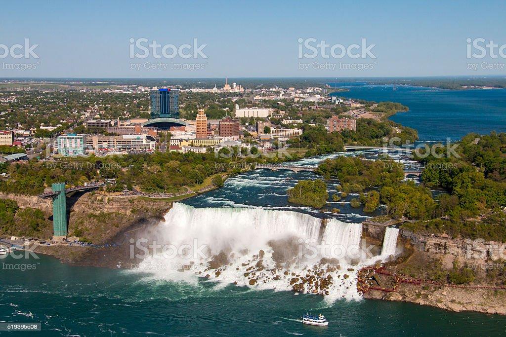 American Falls on the Niagara River stock photo