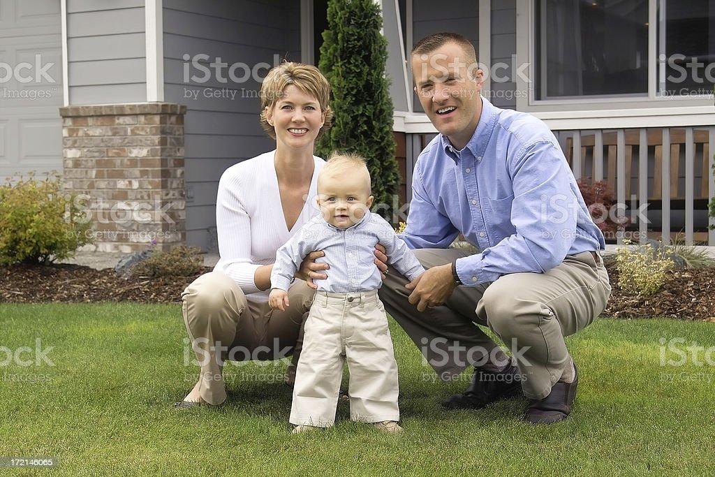 American Family royalty-free stock photo