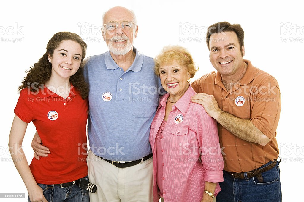 American Family Voted royalty-free stock photo