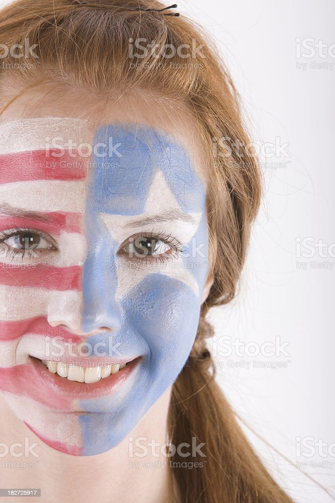 American fan royalty-free stock photo