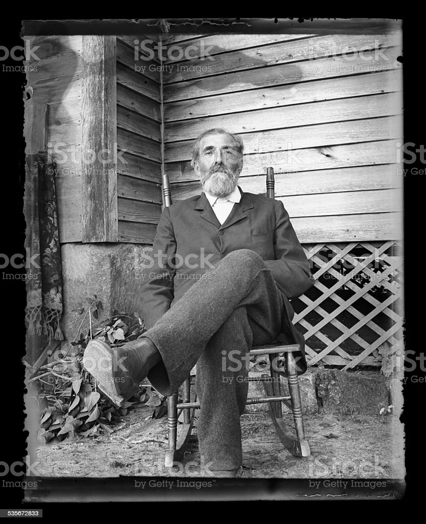 American Farmer, Circa 1890 stock photo
