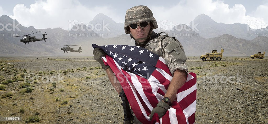 American Fight for Freedom stock photo
