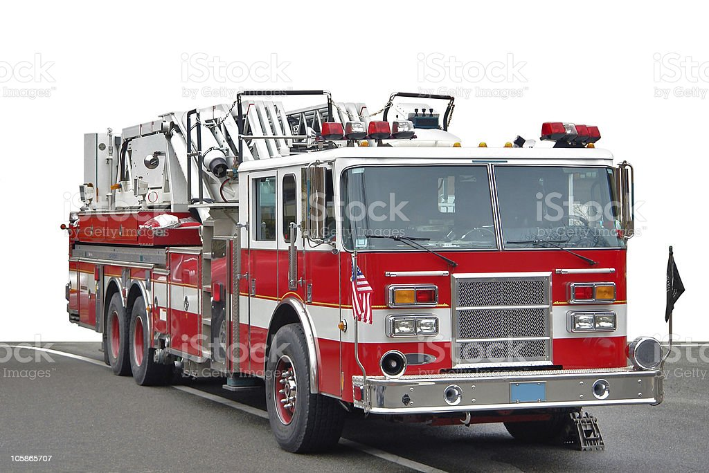 american fire engine stock photo