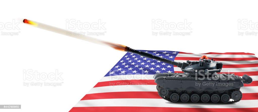 American Fire Power. stock photo