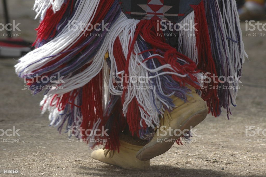 American First Nations Dancer' Moccasins royalty-free stock photo