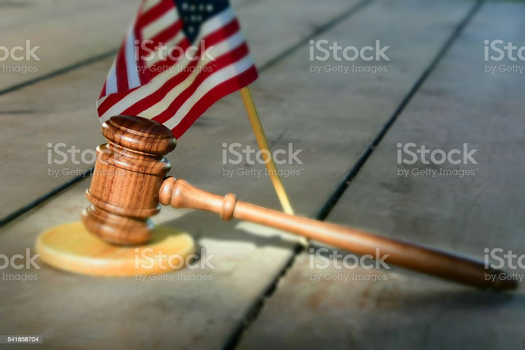 American Flag, American justice stock photo