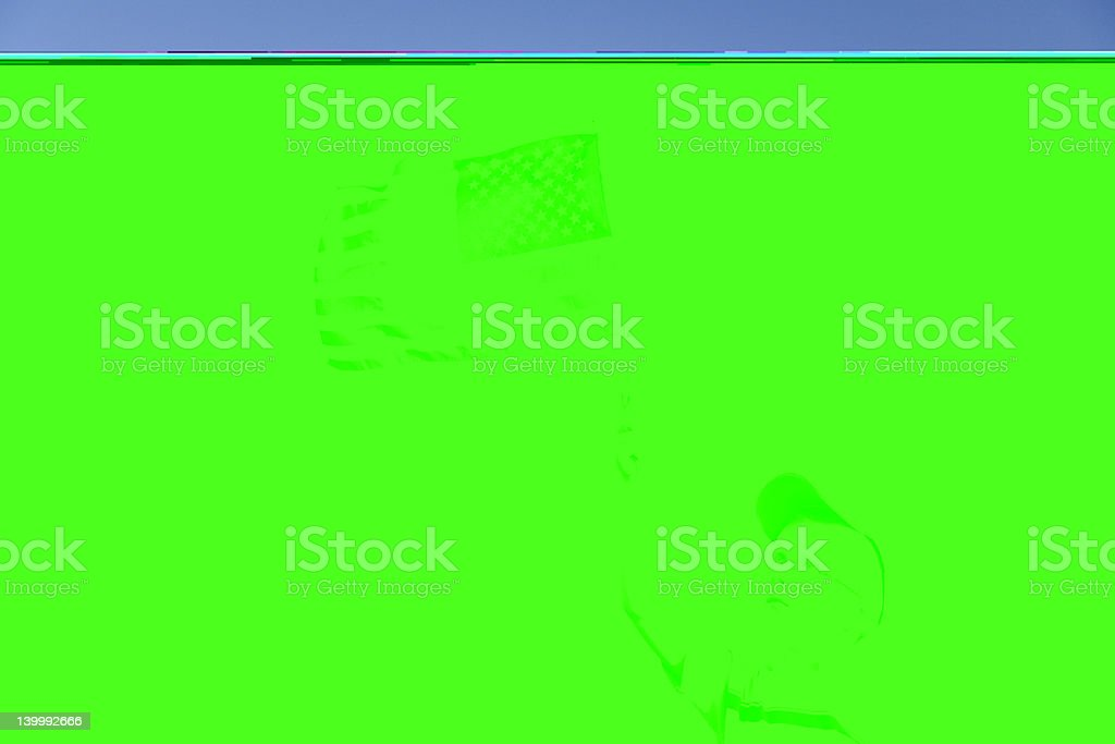American flag and boy stock photo