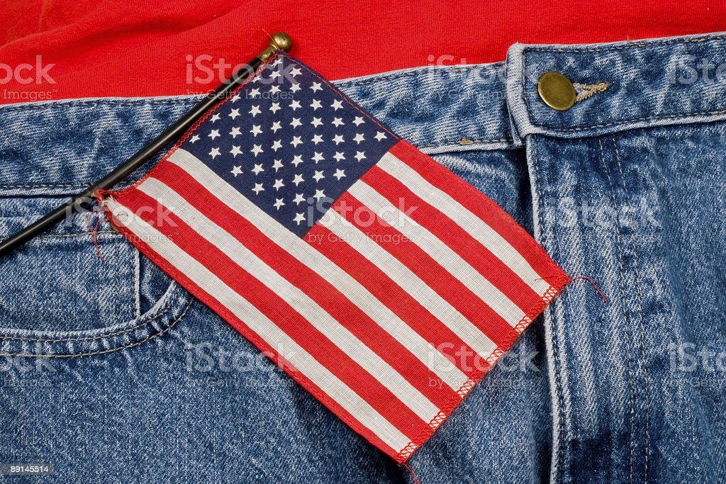American Flag and Jeans royalty-free stock photo