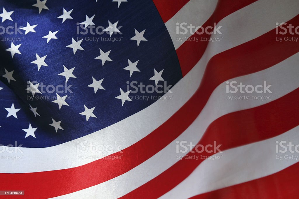 American flag background horizontal stock photo