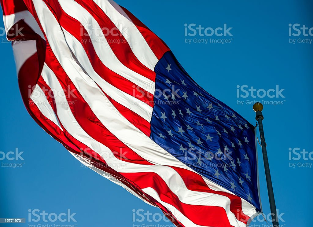 American Flag Backlit royalty-free stock photo